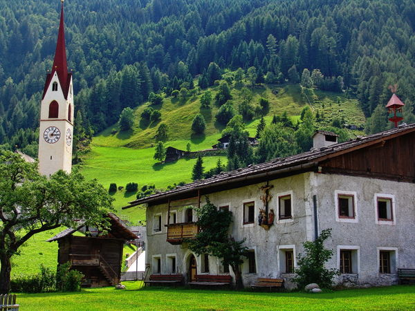 Südtirol Architecture Building Exterior Built Structure Day Grass House Mountain Nature No People Outdoors Tree