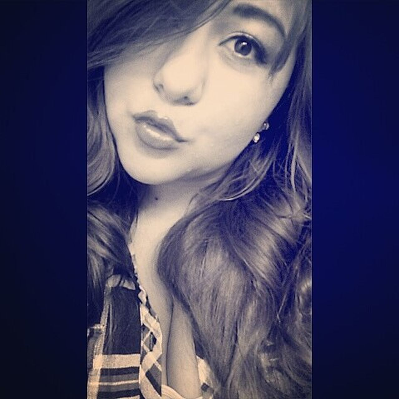 Selfiesunday Kisses Awkaawkward 😂😘💋💙💙💙Blue Fromtheotherday Ohwell Plaid