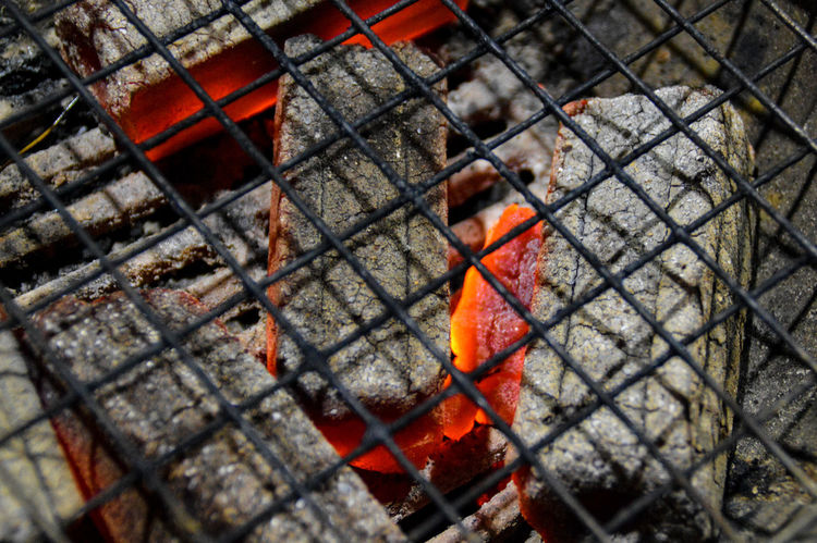 Grill Coal Fire Ember Wire Mesh Abstract Lines, Shapes And Curves Pattern, Texture, Shape And Form Textures And Surfaces