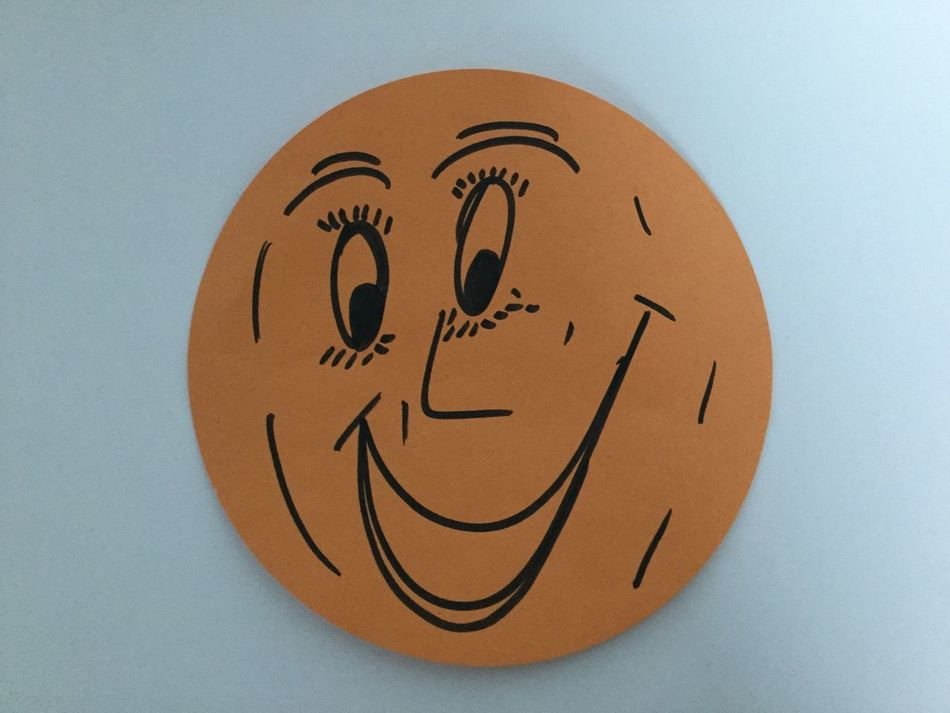 Anthropomorphic Face Close-up Day Keep Smiling No People Outdoors Smile White Background