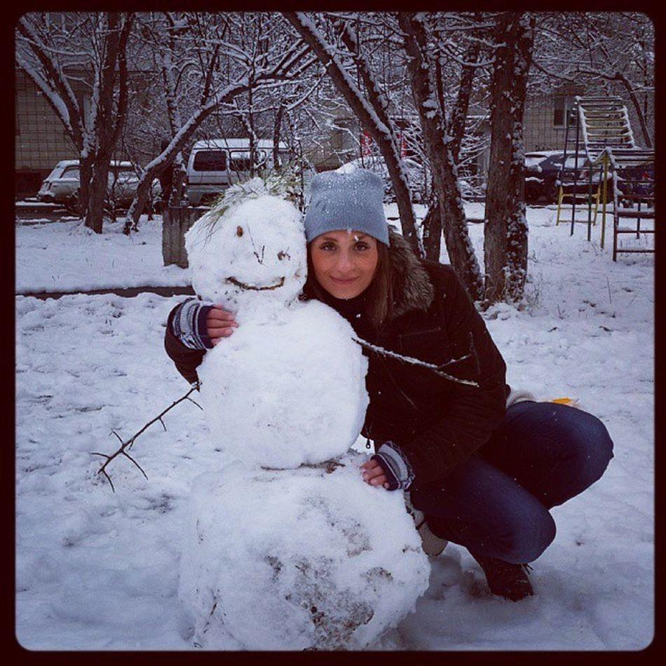 Первые снеговики