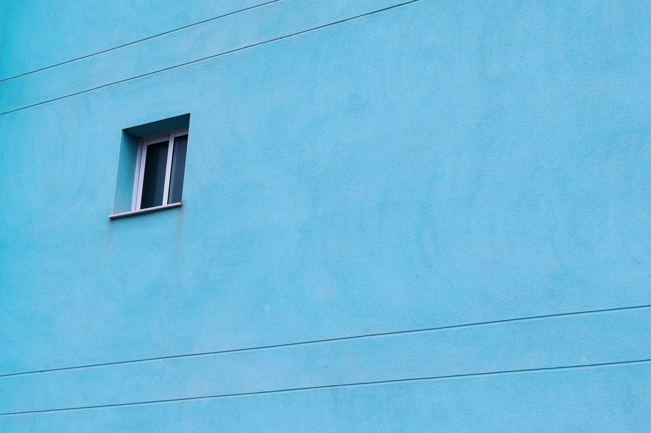 Turquoise Window Building Architecture Turquoise By Motorola Textures And Surfaces Minimalism Simplicity Blue Urban Geometry Streetphotography Building Exterior Old Buildings Wall - Building Feature Wall Façade Outdoors No People Exterior Windows Old House House Houses And Windows Geometric Shapes View From Below Lines