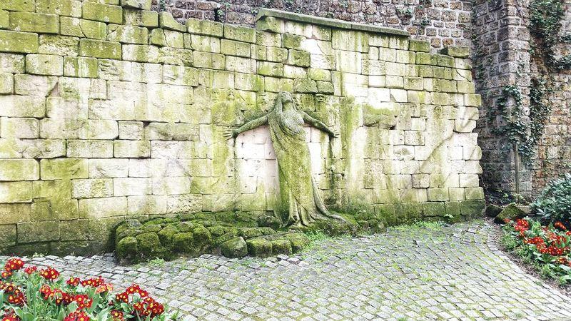 Green Color Outdoors Growth Wall Sculpture Mystical Paris Père Lachaise Spring BYOPaper!