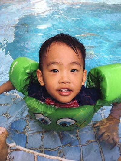 Swimming Pool Close-up My 2nd Boy Swimming Family