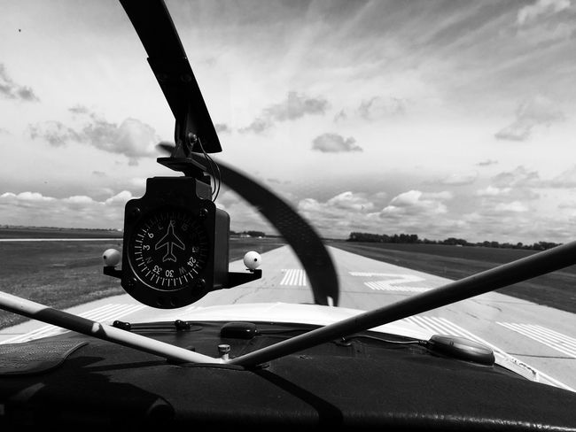 June 17, 2016 Beauty In Nature Cessna Close-up Cloud Cloud - Sky Cloudy Cropped Day Film Noir Focus On Foreground Landscape Minnesota Mode Of Transport Monochrome Moorhead Nature No People Outdoors Part Of Scenics Sky Tranquil Scene Tranquility