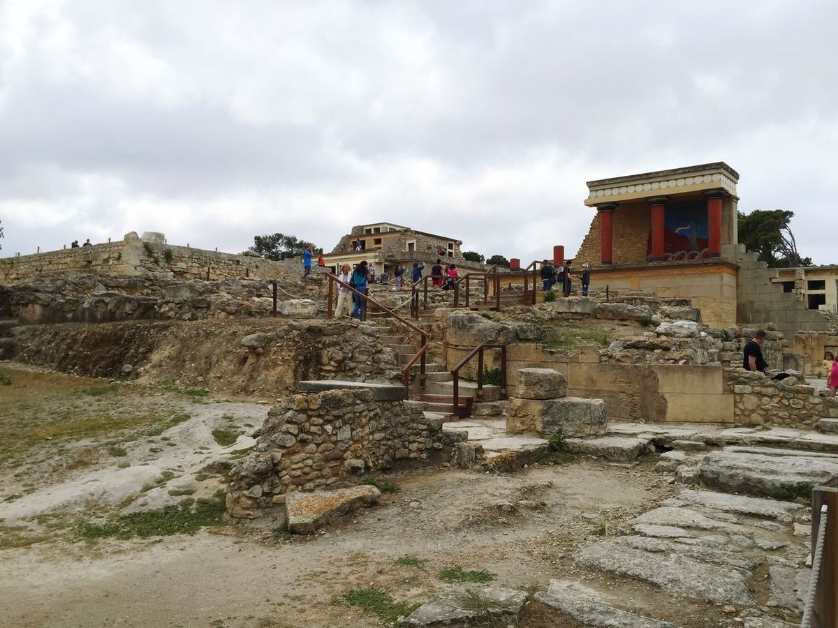 Greece Crete Knossos Palace Vacation