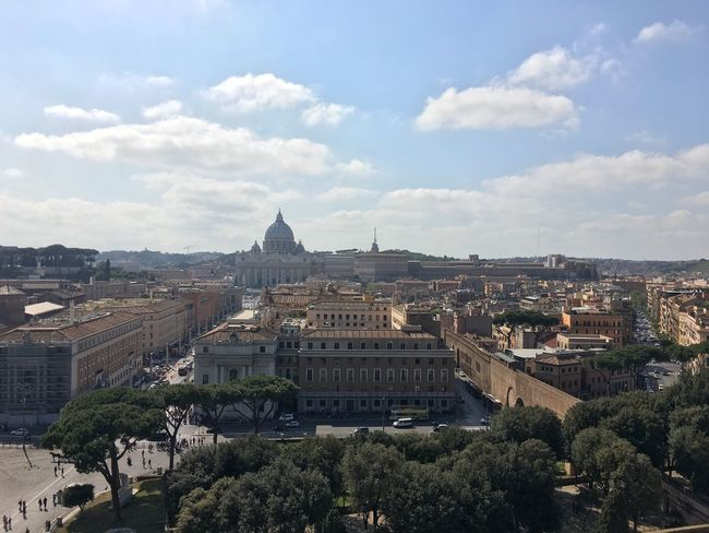 On the top of sant'angelo castel. Sant'angelo Rome Italy