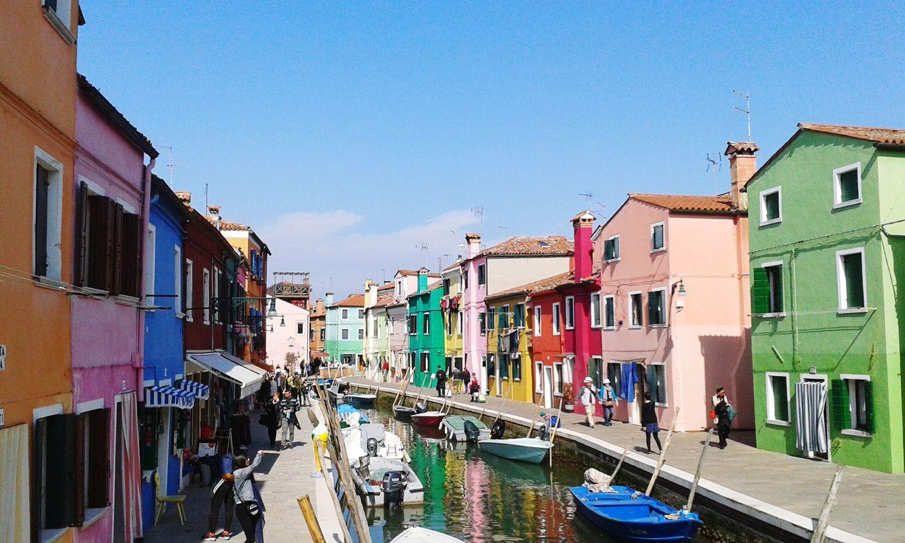 Burano, Italy Meinegütesaugeil Vaporetti Niceweather Wasauchimmer