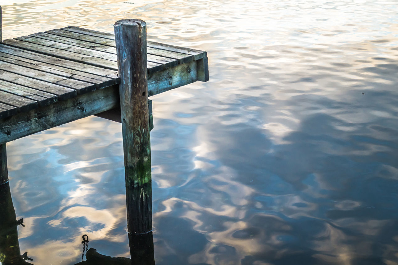 water, outdoors, no people, day, wood - material, lake, nature, close-up