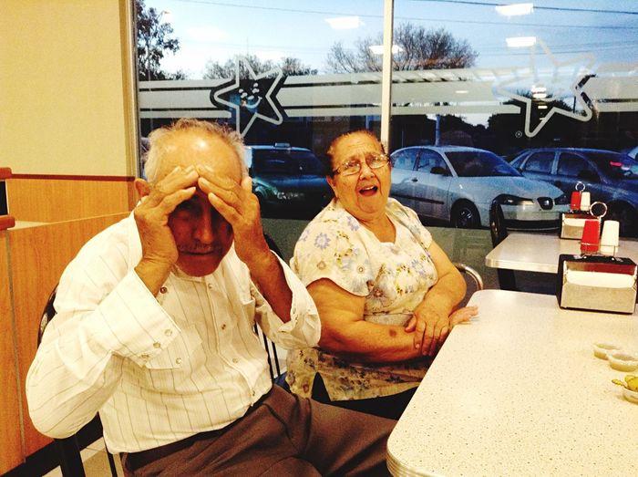 I LOVE them... We Are Family Burgers Grandparents Grandpa Grandma Monterrey Nuevo Leon Likeforlike Smile Old But Awesome Everyday Emotion