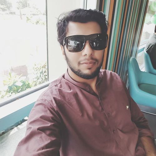 Feeling Blessed. Enjoyment Thats Me ♥ Handsome Young Adult Looking At Camera Eyemphotography Portrait Eyemselfie Thats Me  Smiling Mecdonald Swl In Gd Mood Fashion Happiness One Person Gd Day Pakistan