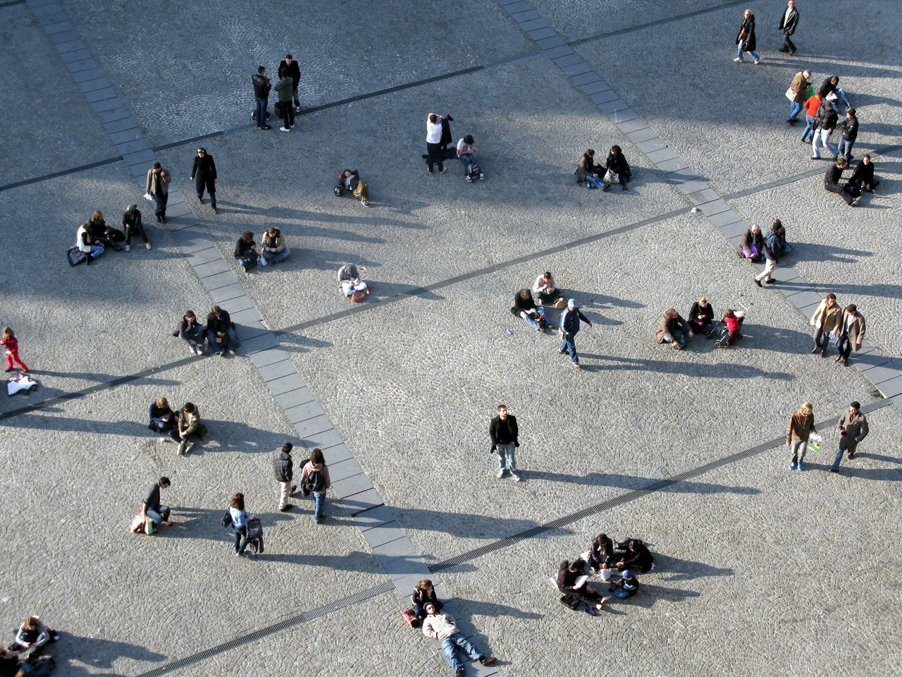 Beautiful stock photos of paris, Day, France, High Angle View, Large Group Of People