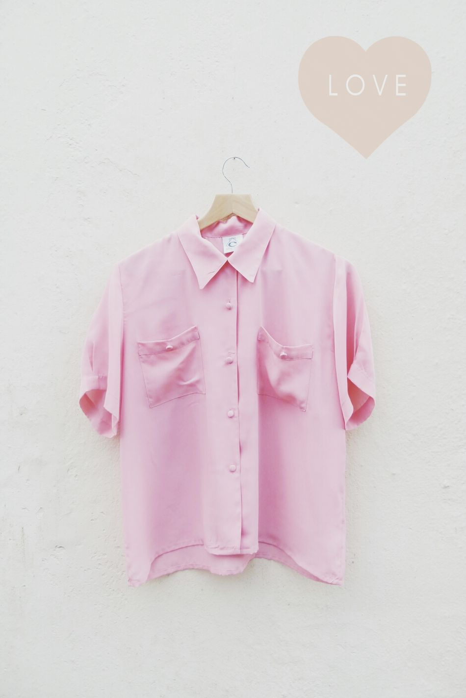 Pink Pocket Blouse | www.lilyandlacevintage.co.uk | Pink Blouse Vintage Clothes Lily & Lace Vintage