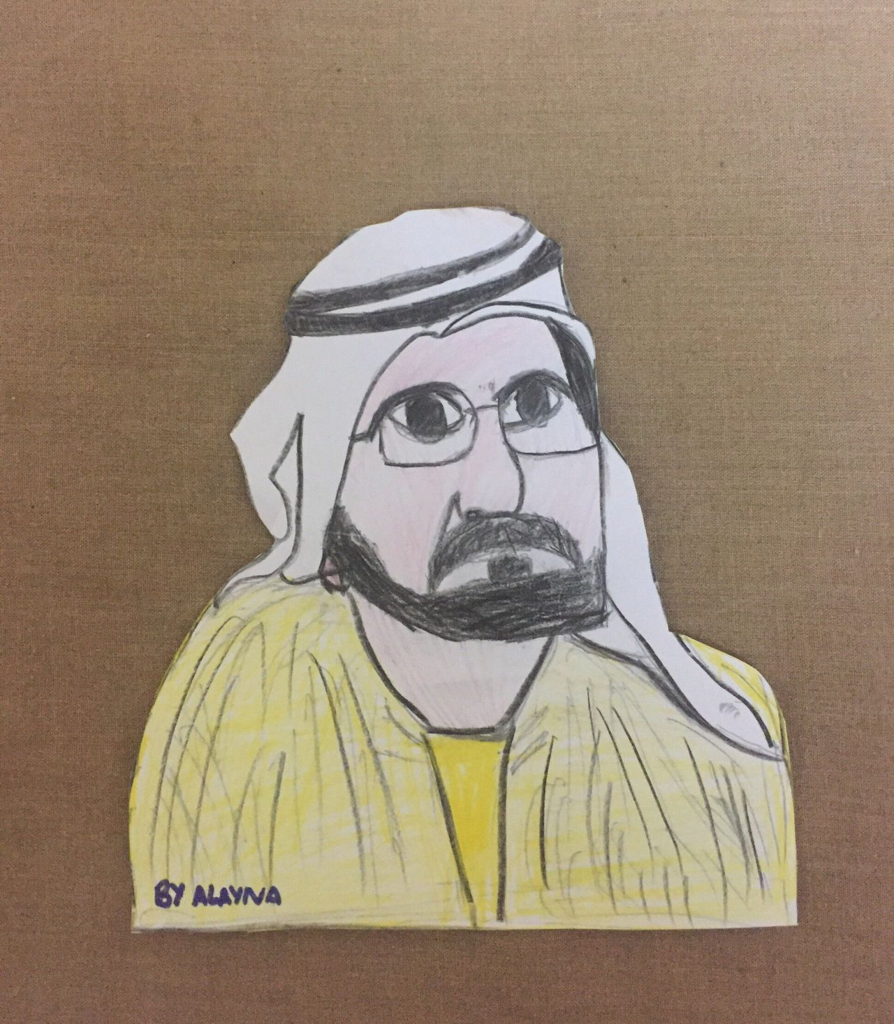 Painted Image Portrait Drawnbyhand Drawn By Daughter Sheikhmohammed EyeEmNewHere Art Is Everywhere Break The Mold Cut And Paste