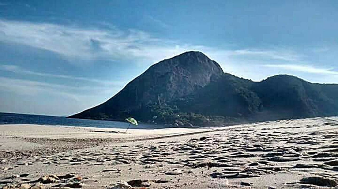beach, sand, mountain, nature, sea, landscape, outdoors, scenics, summer, cloud - sky, tranquility, sky, no people, beauty in nature, day, travel destinations, water