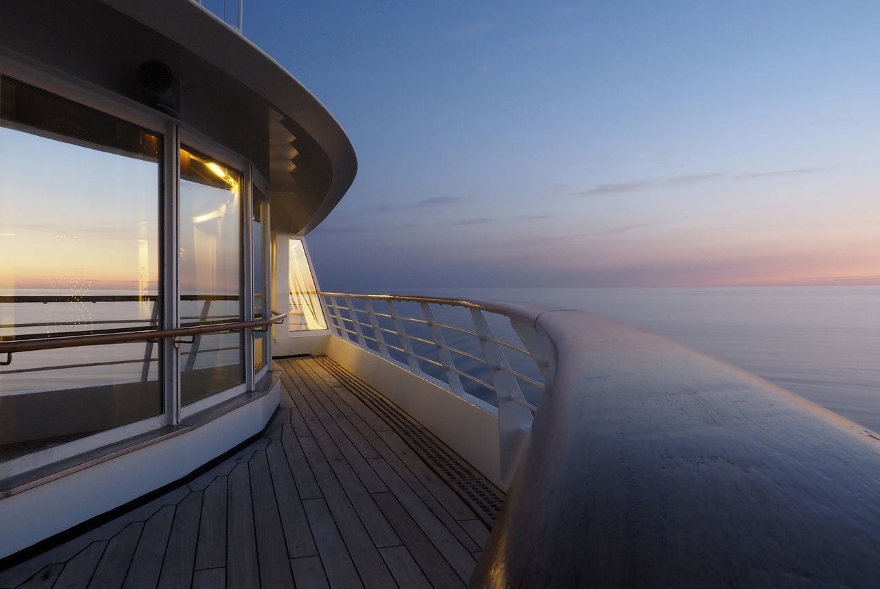 Sea of tranquility Blue Hour Baltic Sea Cruising Seascape Water Horizon Over Water Blue Blue Sky Ocean Lifestyle Luxuryliving Travel Photography Tranquility Seabourn Gowiththeflow