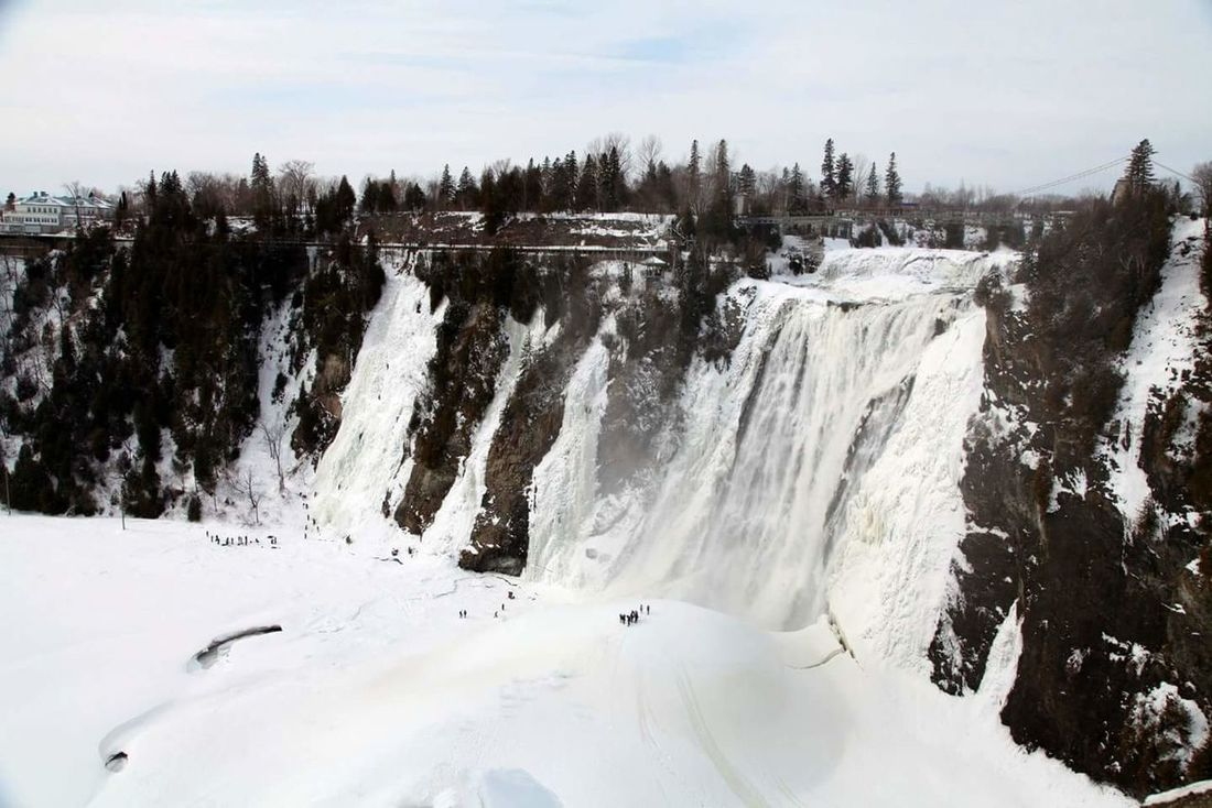 Ice Climbing Canada Quebec Montmorency Falls Frozen Waterfall Waterfall Snow Winter Nature_collection Nature Frozen Nature