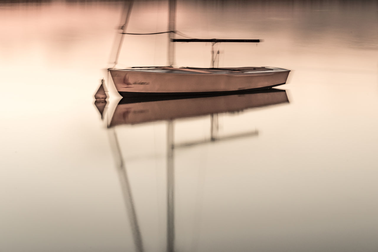 Close-up Day Lake Long Exposure Mirroring In Water Nautical Vessel No People Outdoors Reflection Sailboat Water Yacht EyeEmNewHere
