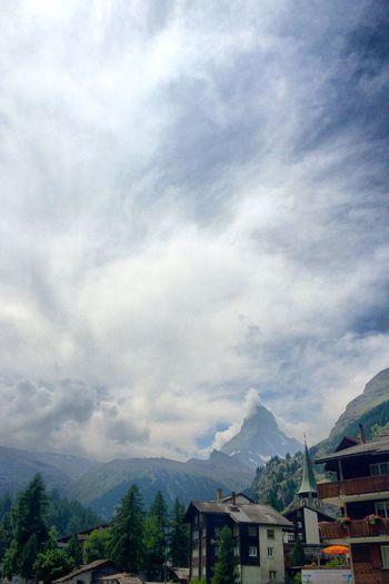 Postcard from Zermatt Mountains Clouds And Sky Sightseeing Ferien Reisen Seeing The Sights