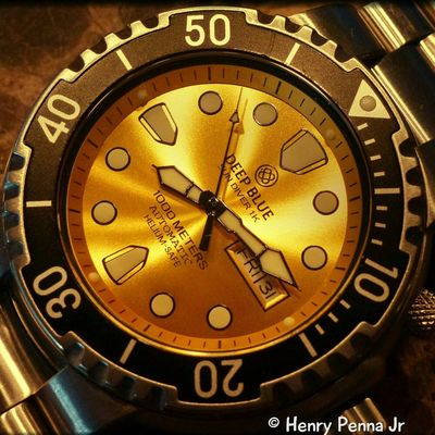 Deep Blue Sundiver 1K Macro Watches Deep Blue Deepblue Timepiece Timepieces Diver Automatic Panasonic  Panasonic Lumix