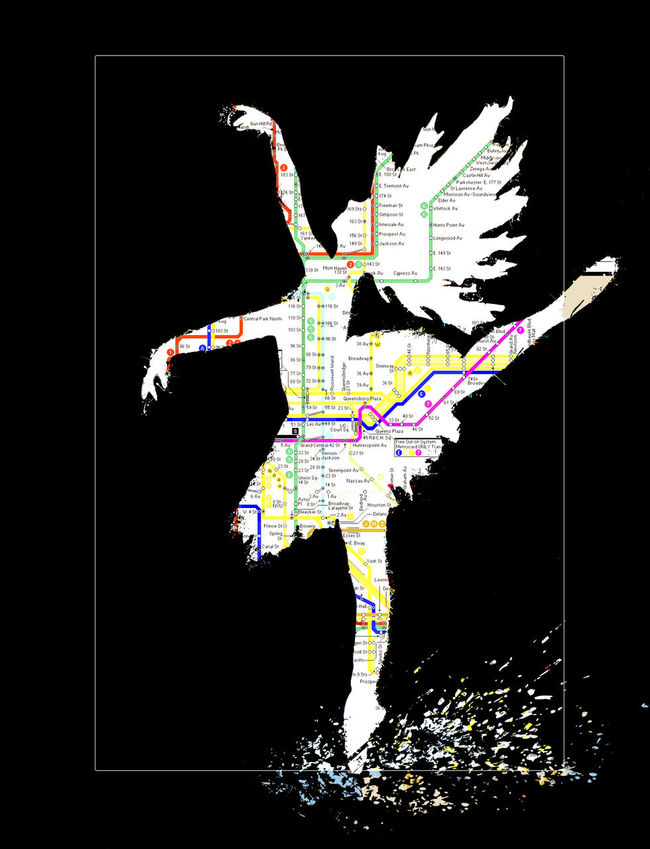 Artworkby Suzann K Ballerina Graffitti Ballerina Splashing In Pu Composite Image Creatibe Photo Creativity Photos Dancing In Puddles Dancing On Toes Digital Composite Graffiti Art Graffitti Ar Montage Photography New York City Subway Map Subway Map Wall Art Ballerina Wall Art Colorful