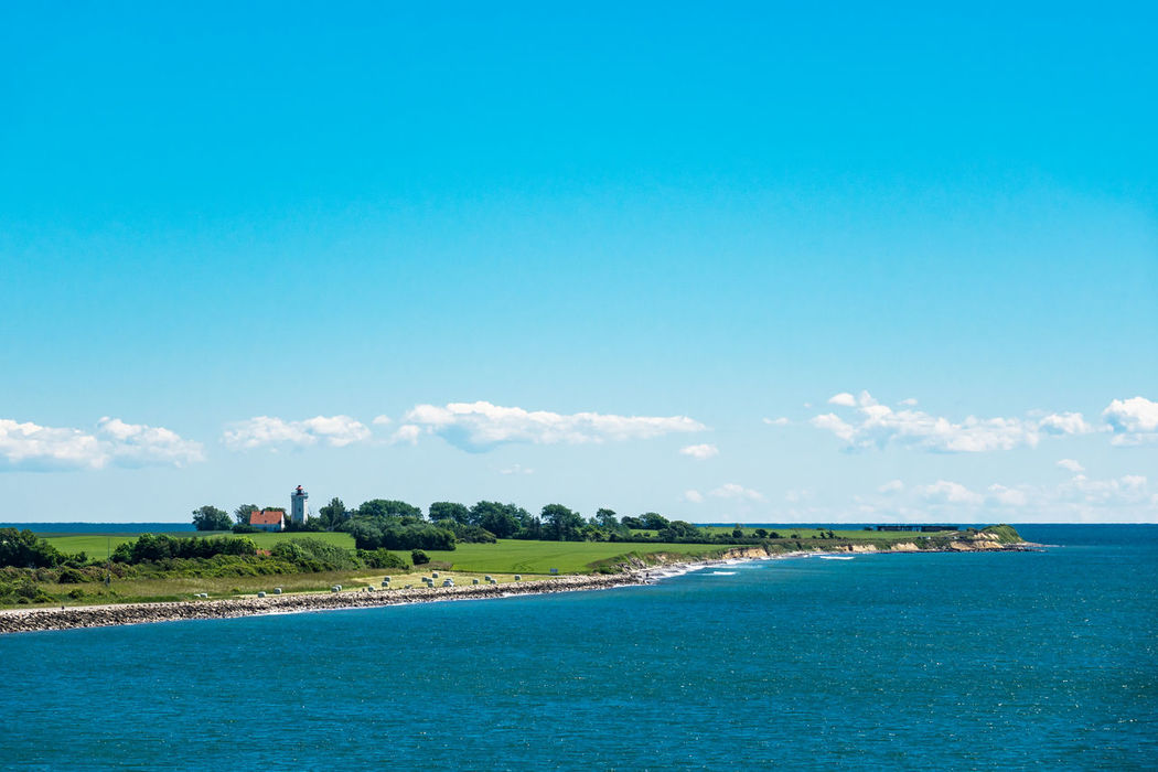 Baltic Sea coast in Gedser, Denmark. Baltic Sea Beauty In Nature Coast Day Denmark Gedser Holiday Journey Landscape Lighthouse Nature No People Outdoors Scenics Sea Shore Sky Tourism Travel Destinations Vacation Water
