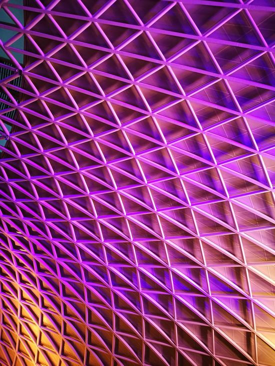 Ceiling Kings Cross Railway Station Pattern Backgrounds Full Frame No People Low Angle View Textured  Indoors  Architecture