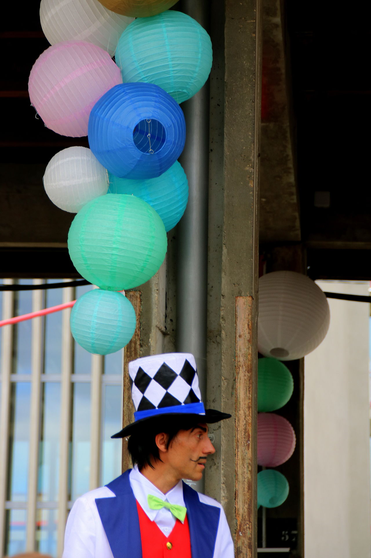 Balloon Boys Childhood Colors Cosplayer Day Disguise Dressing Up Hat Man Manga Multi Colored One Person Outdoors People Real People