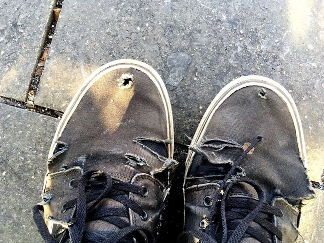Worn Shoes Worn Worn Out Shoes Old Shoes Old Sneakers