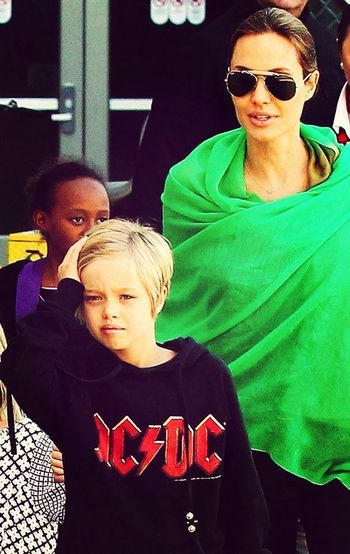 AC⚡️DC :)) Angelina Jolie and Her Son