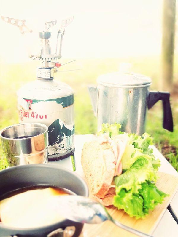 朝ごはん!ハワイ土産のKONACoffee ライ麦パンのハムレタスサンド ライ麦パン入りオニオンスープ オーブのライ麦パンうま(^ ^)♩ Orb パン屋 Coffee Time