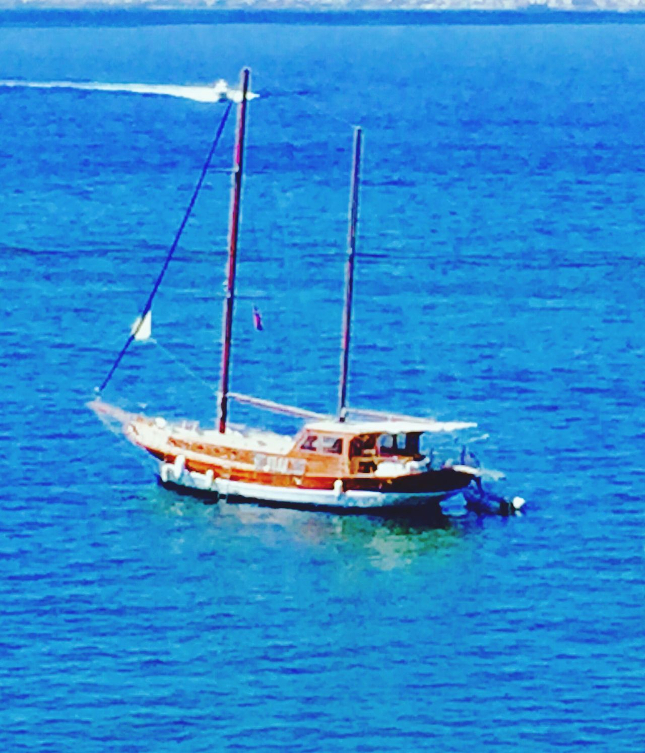 Sailing Boat Seascape Seaview Sea Sky Mobile Photography Mobilephotography IPhoneography Princeislands Prinkipo