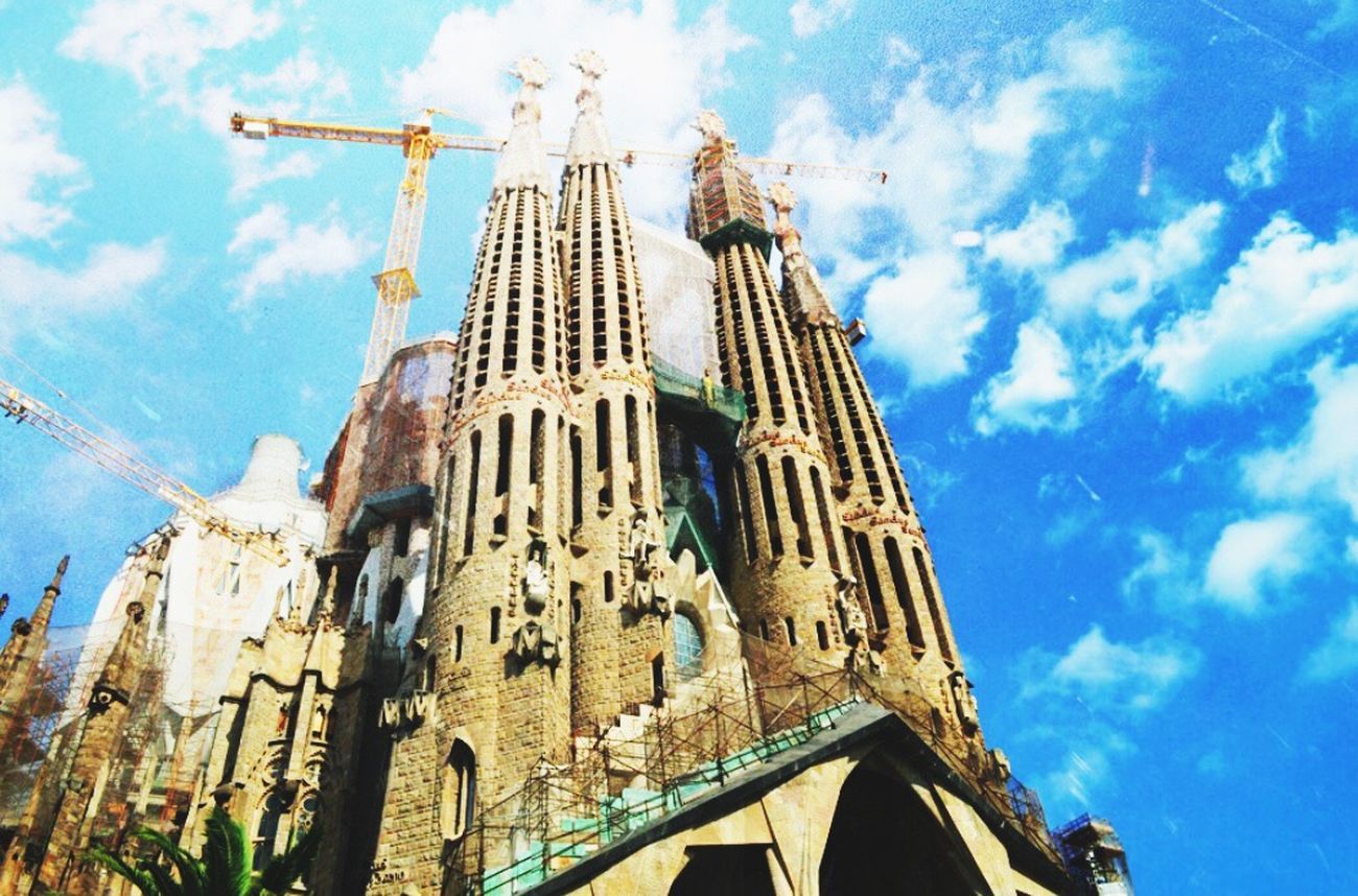 Showcase July City Travel SPAIN Barcelona Photography Life Trip Church Blue Sky Tall Artistic Colors Relegion Cathedral Architecture