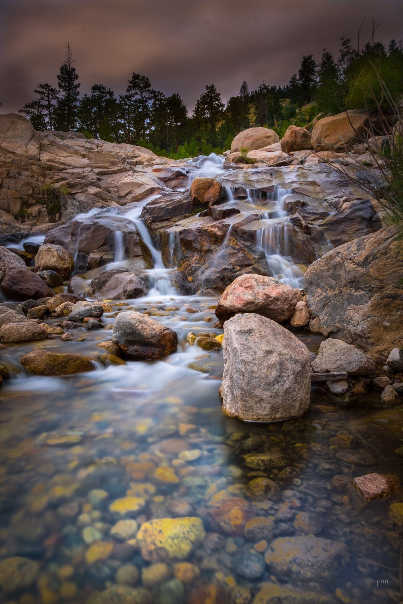 Alluvial Fan, Rocky Mountain National Park Landscape Longexposure RMNP FujifilmXPro2 Waterfall