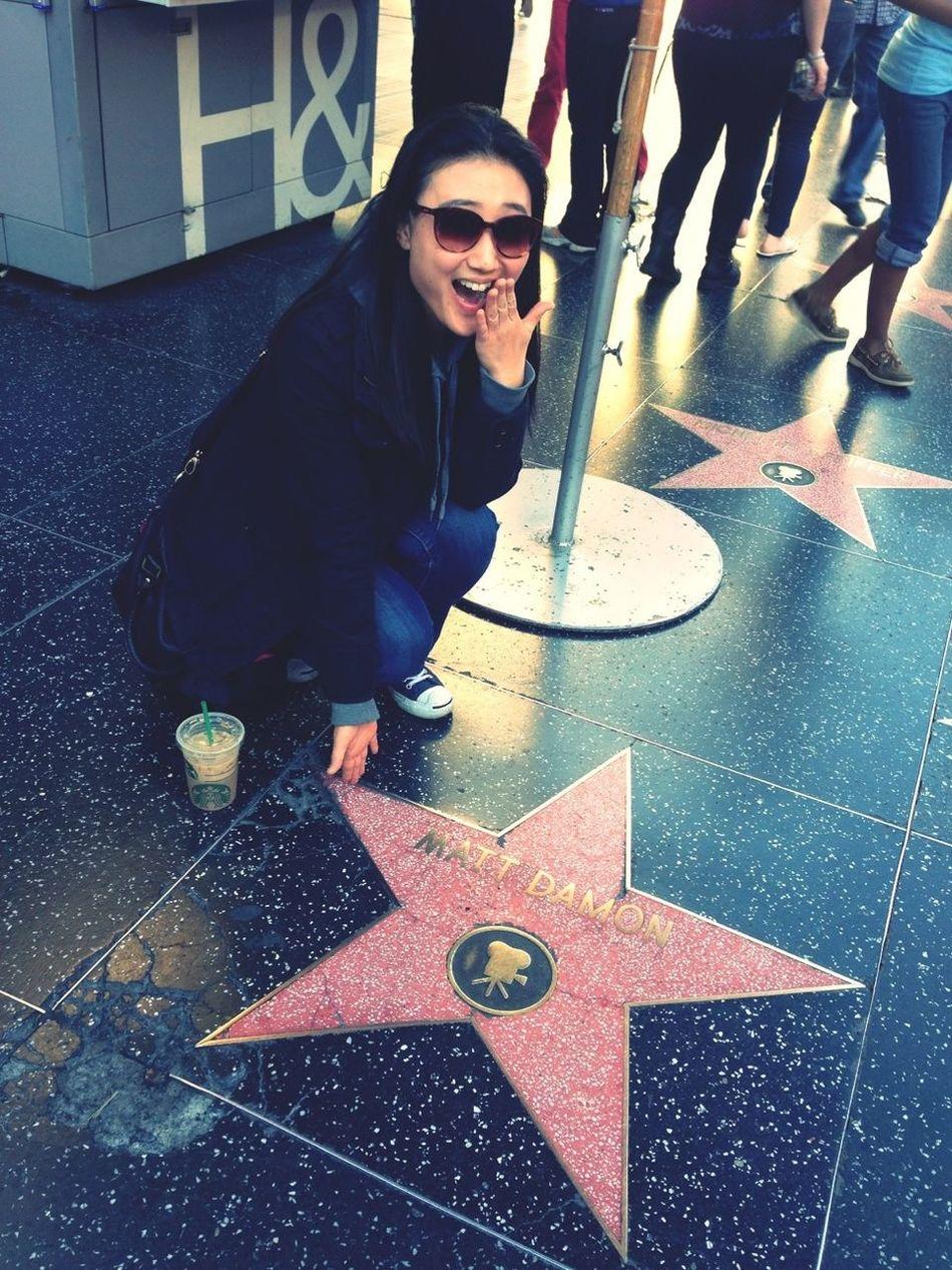 Hollywood Stars Matt Damon Walk Of Fame