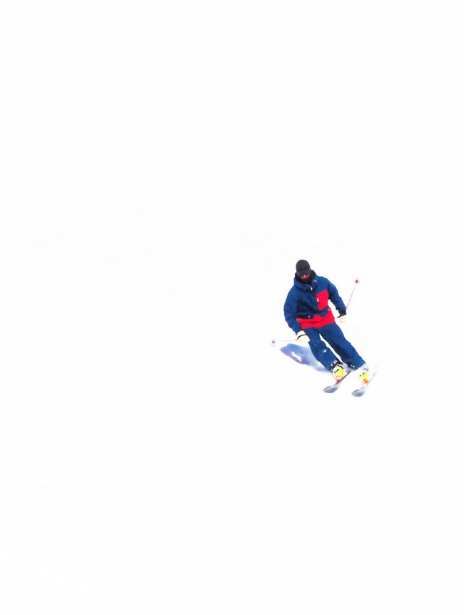 Day Flashy Motion Mouvement Moving One Person Outdoors Ski Skier Skiing Snow Sport Winter