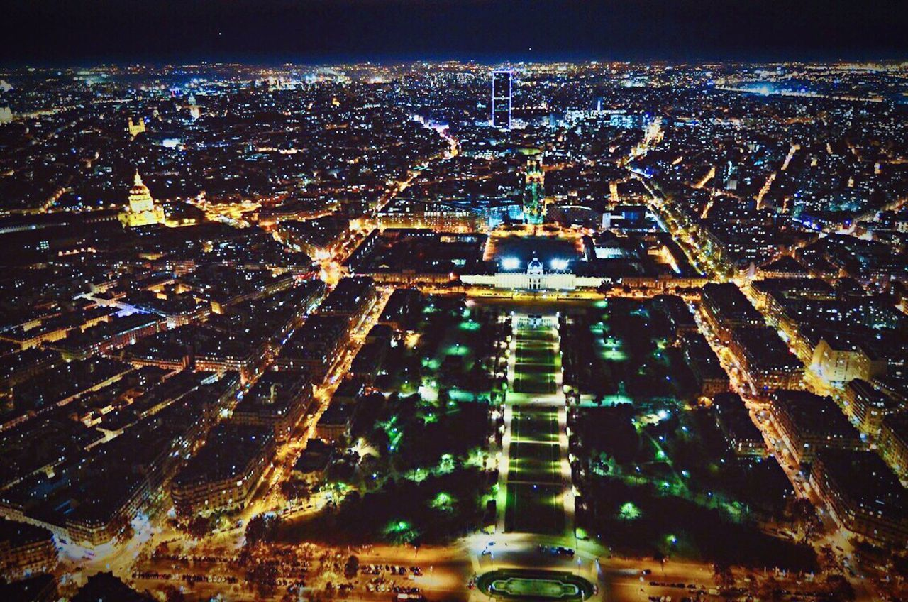 Paris Paris, France  France France 🇫🇷 Aerial View Illuminated City City Life Cityscapes Cityscape Travel Traveling Travel Destinations Travel Photography Night Nightphotography Night Lights Night Photography No People High Angle View Popular Photos My Year My View