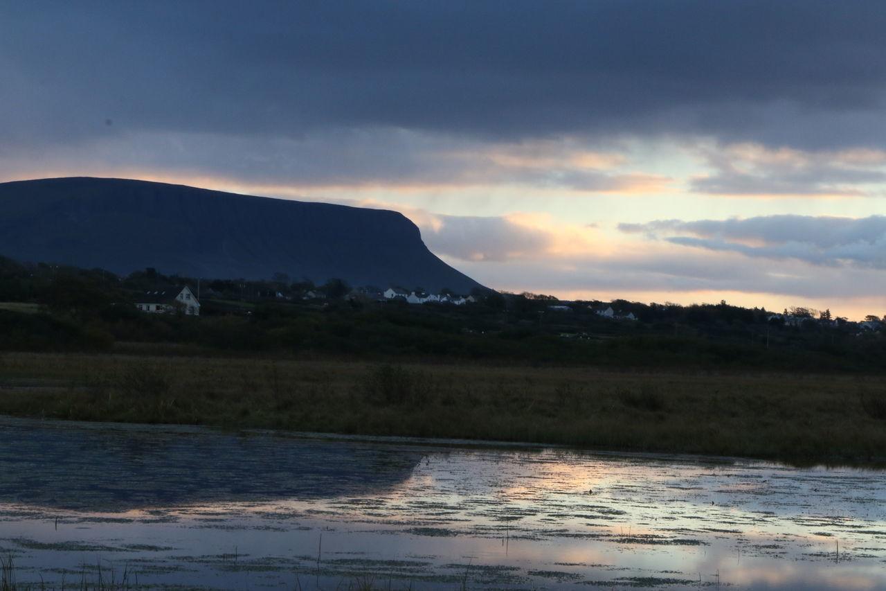 Adventure Cloud Explore Ireland Ireland🍀 Lake Lough Mountain Reflection Sunset