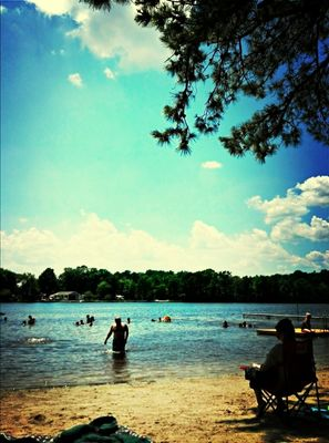 Beautiful day at Lake Garrison by Jennifer Ruczynski
