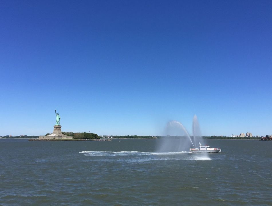 Statue of Liberty Statue Of Liberty Fire Boat NYC New York Harbor Nofilter