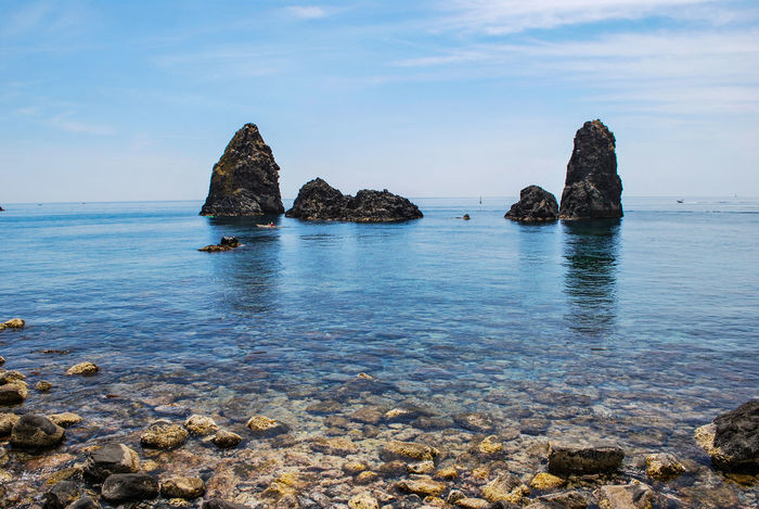 Acitrezza. Sicily. Sea Beach Rock - Object Outdoors Nature No People Sea Life Underwater Water Day Beauty In Nature Horizon Over Water UnderSea Sky Stacks  Acitrezza  Sicily Italy Scenics Protected Area Ionian Sea Ionian Coast Travel Destinations Food And Drink Tourist Attraction