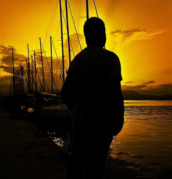 Me Sunset Gold Sea