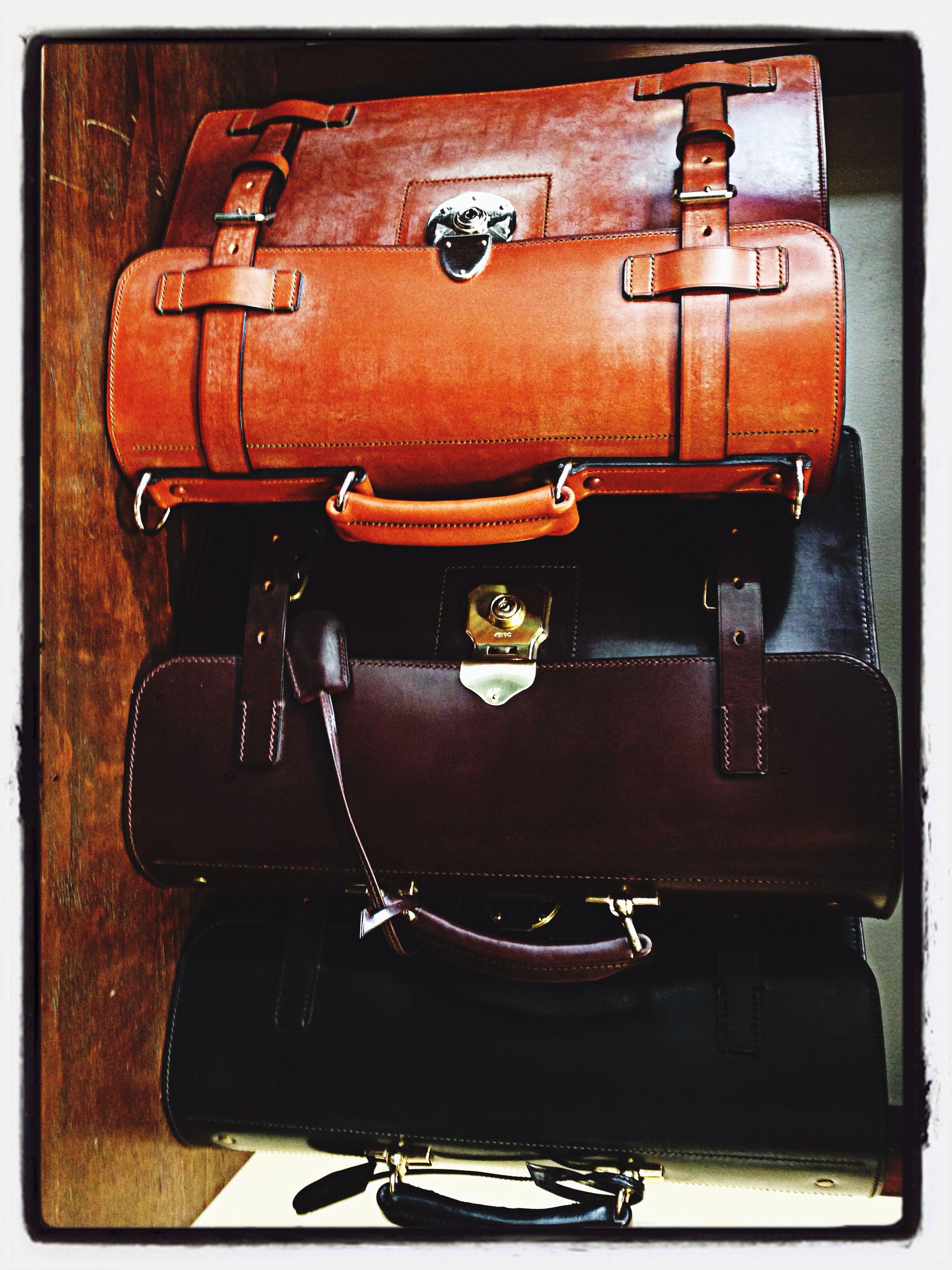 ブライドルレザーの手縫いブリーフケース Bag Luggage Leather Bag