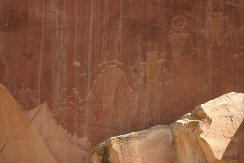 Ancient Art Backgrounds Close-up Day Fremont Full Frame Indian Culture  No People Petroglyphs Travel Destinations