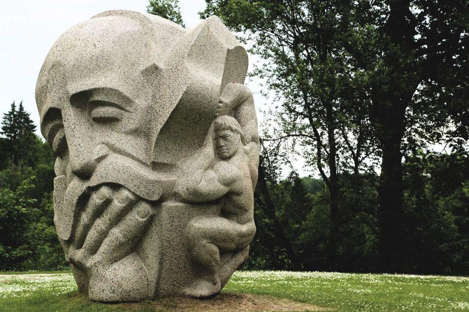 A natural wonder of Riga! Riga Latvia Sculpture Sculptures Urban Sculpture Sculpting Sculpture Garden Expressive Sculpture Sculpturepark Stone Sculpture Landscape_photography Garden