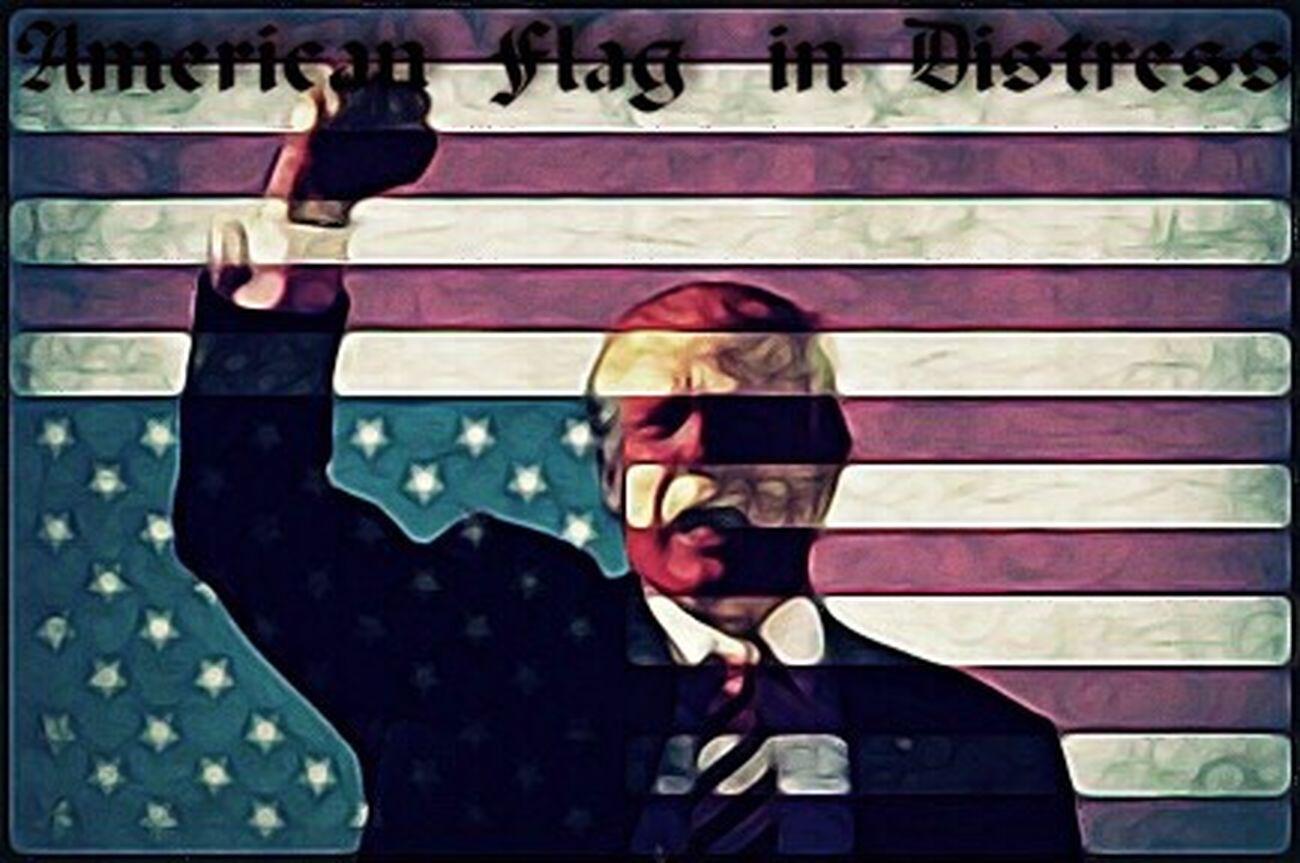 Sign of distress Flag American Flag Patriotism Trump Trump Textured  Graveyard Photo President Presidential Election 2016