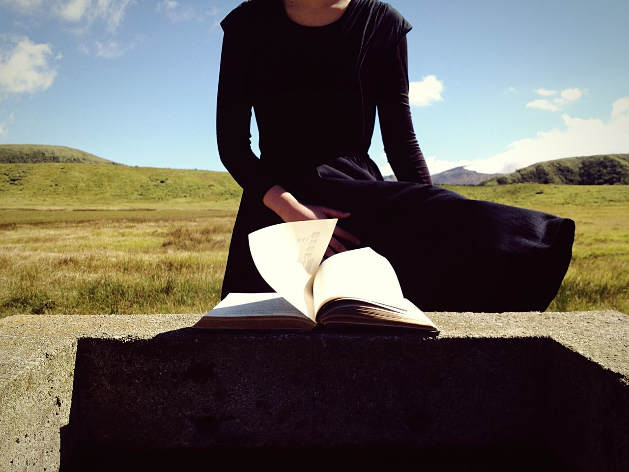 Beautiful stock photos of books, Book, Day, Field, Landscape