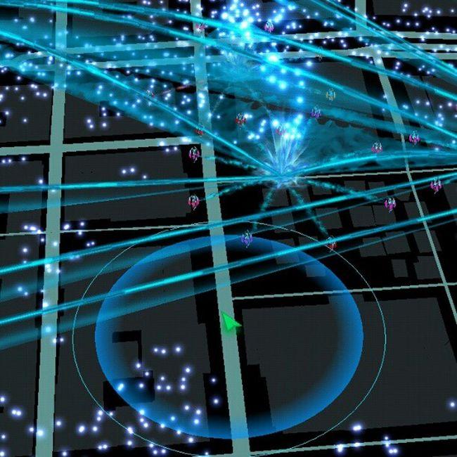 Glider runt i min virtuella värld i huvudstaden. .. Galet Ingress Enlightened