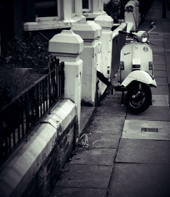 Outdoors Day No People Architecture Scooter Iconic Blackandwhite Black And White Photography Monochrome Photography Still Life Street