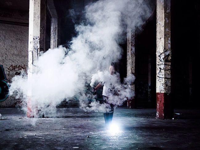 The ritual 🎬 EyeEm Best Shots Moody Mood Smoke Darkness And Light Dark Abandoned Places Urbex Urbexphotography Light